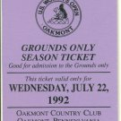 1992 U.S. Women's Open Golf Ticket Oakmont Country Club Patty Sheehan LPGA