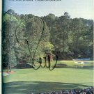 2002 AUGUSTA NATIONAL MASTERS SPECTATORS GUIDE Signed by Rocco Mediate Tiger Winner