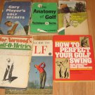6 - Vintage Golf Instructional Books Hardcover Sam Snead Gary Player 1960's Rare