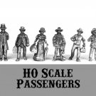 HO HOn2 scale Passengers 6 pewter figures NEW 1/87 Western Rails