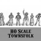 HO HOn2 scale Townsfolk 6 pewter figures NEW 1/87 Western Rails