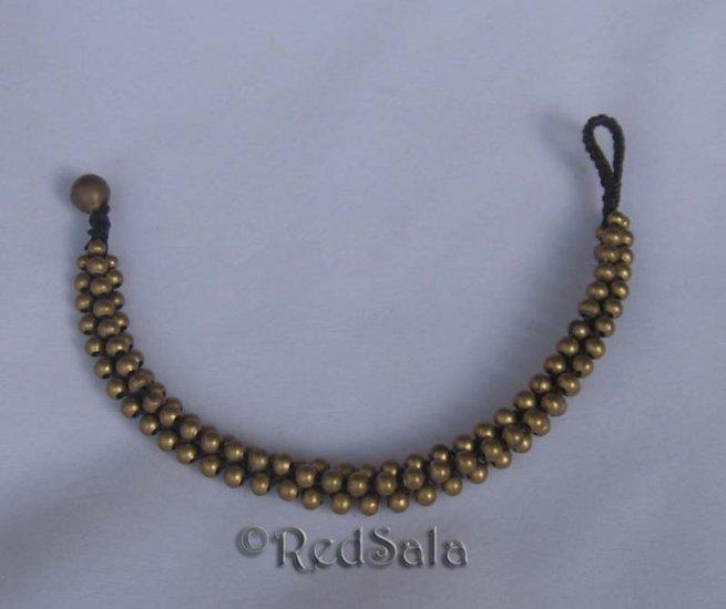 New Craft Thai Handmade BRACELET Brass Studs Beads Bell