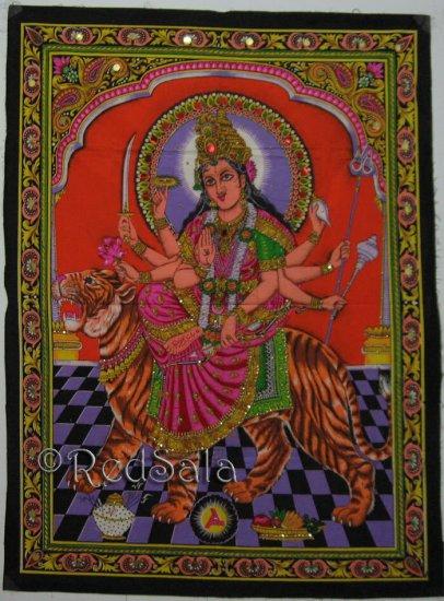 India Hindu Goddess Durga Parvati Uma New Wall Hanging