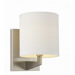 Forecast Fisher Island 1-Light Wall with White Woven Shade 184436NV