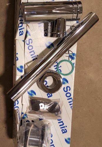 *Sifon Cuadrado Cromo Faucet Basin Mixer P-Trap
