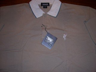 MEN'S ASHWORTH GOLF SHIRT, SIZE XL, RET. $58+, GUARANTEED AUTHENTIC!