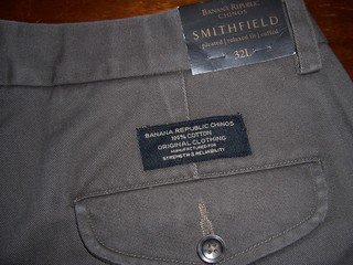 BANANA REPUBLIC 32 X 34 MEN'S CHINOS, RET. $49.50, NWT