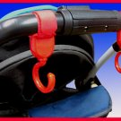 Multi Purpose Baby Stroller Hooks (Red) - 1 pair