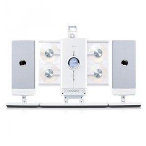 iLuv 4-CD Hi-Fi Audio System with iPod Docking Station - JWin I9200-WHT