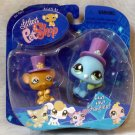 Littlest Pet Shop Fanciest Pairs LPS Mouse 462 & Peacock 463