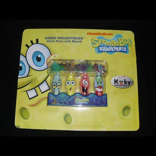 Spongebob 4 Kooky Click Pens Kechains with Stand Series 2