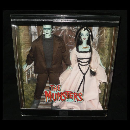 2001 Munsters Barbie and Ken Doll Gift Set