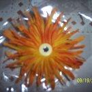 Orange Flower hair barrette