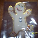 Beige googly eyed gingerbread man