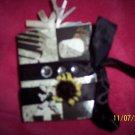 black and white mini fold out album