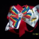 red,white crayola hairbow
