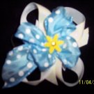 baby blue boutique hair bow on a tie