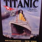 Titanic The World's Largest Liner Stock Metal Sign