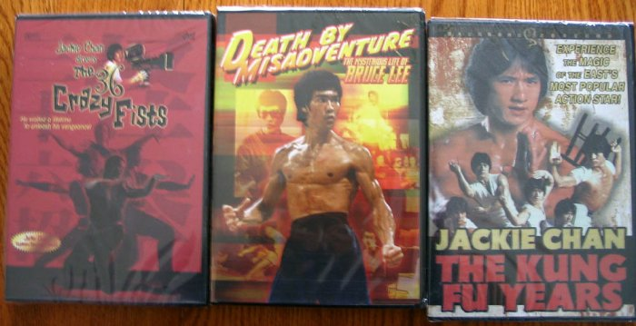 3 NEW Martial Art DVDs Jackie Chan and Bruce Lee