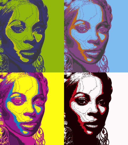8x10 Mary J Blige Popart Print Celebrity Pop Art Picture