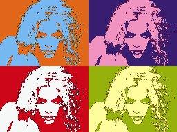 8x10 Shakira Popart Print Celebrity Pop Art Picture