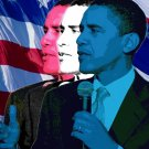 16X20 BARACK OBAMA FLAG POP ART