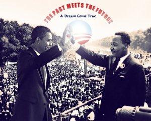 BARACK OBAMA & DR. MARTIN LUTHER KING JR. Poster
