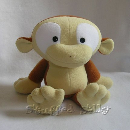 Silly Plush Monkey - Straw Coloured Face