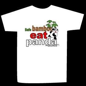 T-shirt safe bamboo eat panda design