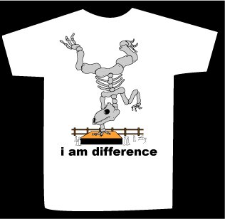 T-shirt i am difference design