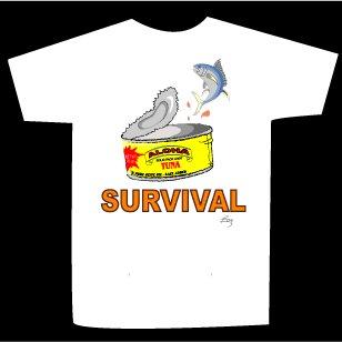 T-shirt SURVIVAL design