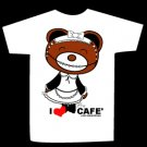 T-shirt I LOVE CAFE design