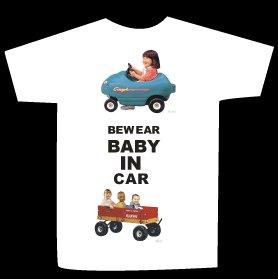 T-shirt BEWARE BABY IN CAR design