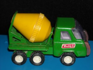 Vintage Metal Construction Cement Mixer Buddy L
