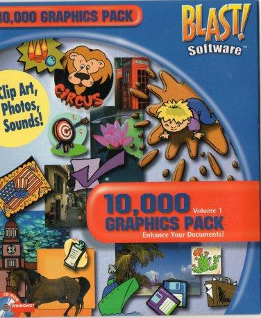 BLAST! 10,000 Graphics Pack Volume 1 Clip Art, Photos, Sounds CD-ROM