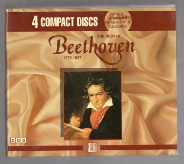 ( USED ) MADACY : The Best of Beethoven ( 4 CD Set ) - Over 4 Hours of Beautiful Classics