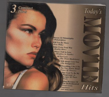 ( USED ) 1994 MADACY : Today's Movie Hits ( 3 CD Set ) Digital Audio Recordings