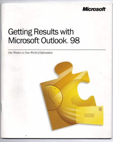 ( USED ) Getting Results with Outlook 98 + Getting Started with FrontPage 98