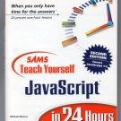 ( USED ) SAMS Teach Yourself JavaScript in 24 Hours