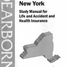 ( USED ) DEARBORN New York Study Manual for Life & Health Insurance + PASSKEY Final Exam ( 2001 )