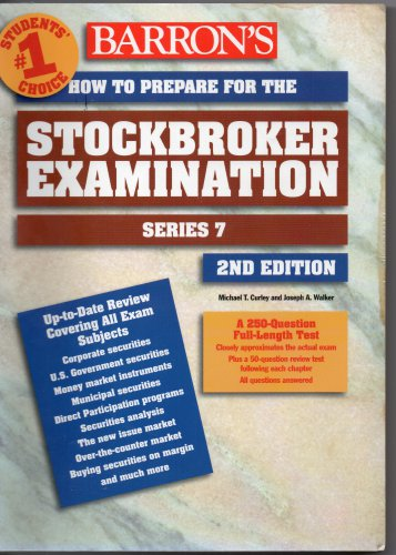 ( USED ) 2000 BARRON'S How to Prepare for Stockbroker Exam - 2nd Edition