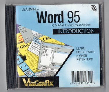 ( USED ) ViaGrafix Interactive Training Series - Learning Word 95 CD-ROM