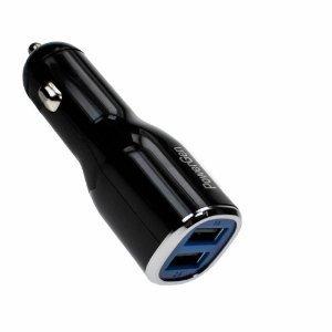 ( NEW Open Box ) PowerGen X000A6H3UZ 2A Black 2 Port Car Charger