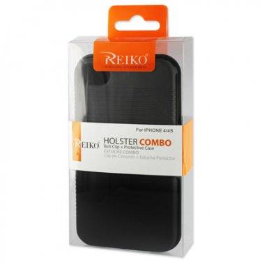 ( NEW Open Box ) REIKO Item No. HC-IPHONE4SBK Holster Combo