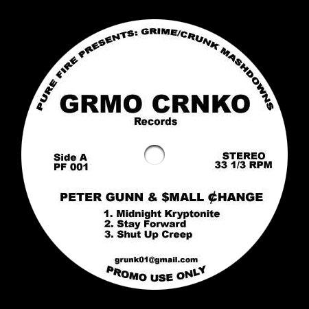 "PF001 - Peter Gunn + $mall ¢hange - Grmo Crnko Records (12"") PURE FIRE"