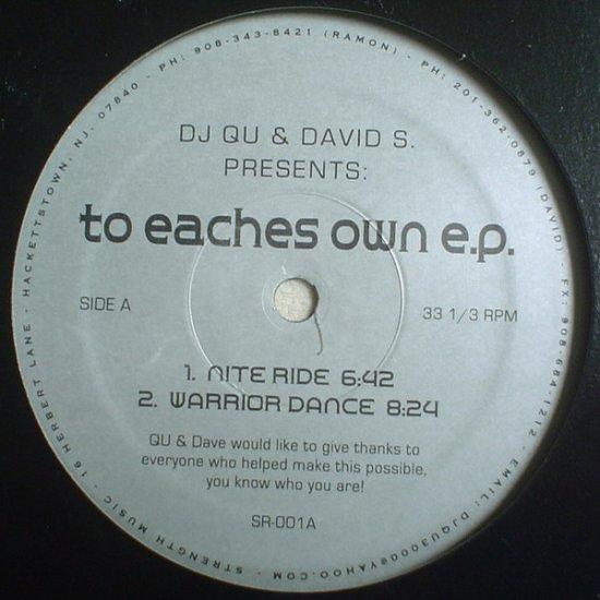 """SMR001 - DJ Qu & David S. - To Eaches Own E.P. (12"""") *STRENGTH MUSIC"""