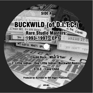"GFV001 - Buckwild - Rare Studio Masters: 1993-1997 - EP2 (12"") *NOT ON LABEL"