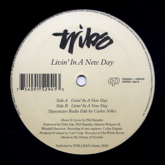"PE65294 - Tribe - Livin' In A New Day (12"") PLANET E"