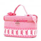 BALLET BALLERINA TOTE BAG COSMETIC CASE PINK WHITE NEW