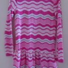 GYMBOREE GIRL'S Fall Winter DRESS Pink White Gray Stripes Size 6 Long Sleeve EUC